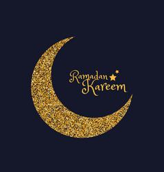 Golden eid moon of ramasan season vector