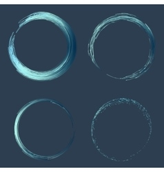 Hand drawn line circle with place for your text vector image vector image