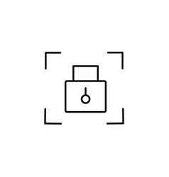 locker icon vector image