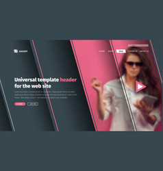 modern template header site with a place for vector image vector image
