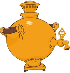 Old Russian samovar vector image vector image