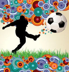 Retro soccer background vector image