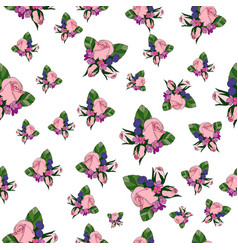 rose vintage seamless pattern vector image