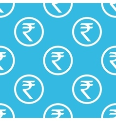 Rupee sign blue pattern vector