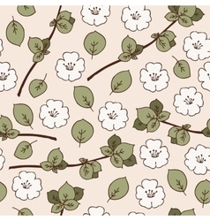 Seamless Pattern with Apple Flowers vector image vector image