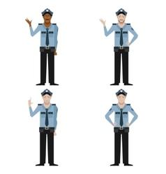 Set of police men vector