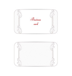 set of two horizontal vintage business cards vector image