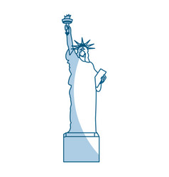 Shadow statue of liberty cartoon vector