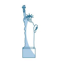 Shadow statue of liberty cartoon vector