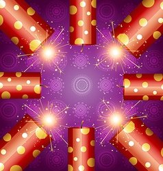 Shiny diwali crackers vector