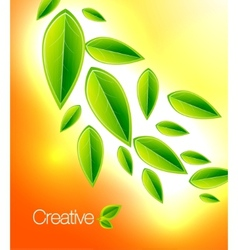 shiny nature background vector image vector image
