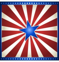 Star burst in usa colors vector