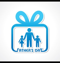Stylish Happy Fathers Day Greeting stock vector image