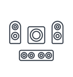 Subwoofer speakers sounbar icons vector