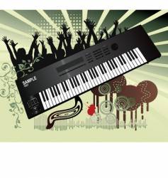 synthesizer background vector image vector image