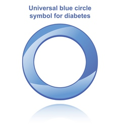 Universal blue circle vector image