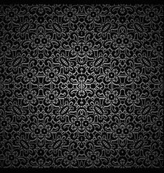 vintage black ornamental background vector image vector image