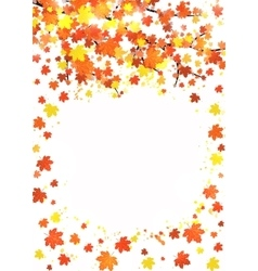 Vertical autumn banner template with blank space vector