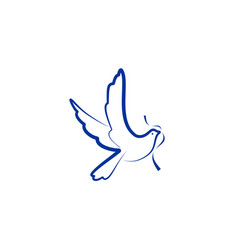 dove bird logo vector image