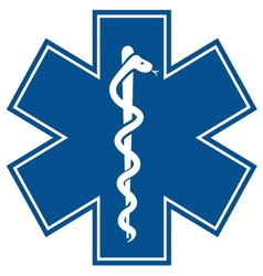 Emergency medical symbol vector