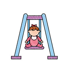 Park swing isolated icon vector