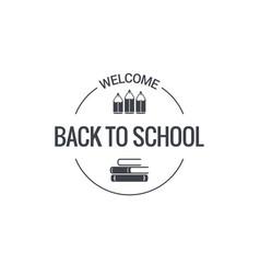 Back to school logo design background vector
