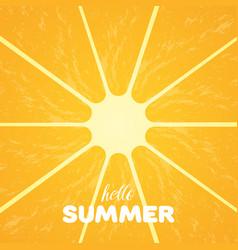 Orange pulp and hello summer text vector
