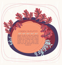 Happy autumn card vector