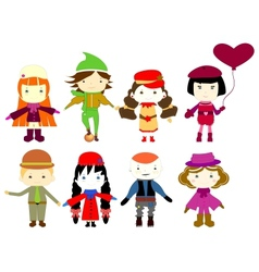 Cartoon drawings of children vector