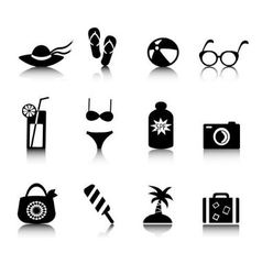 Set holiday icons vector