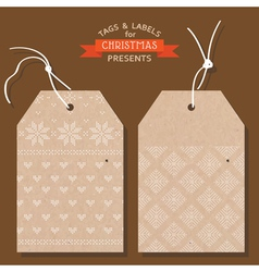 Christmas Tags or Labels- Scandinavian Style vector image