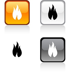Fire button vector