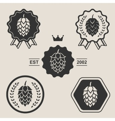 Hop craft beer sign symbol label element vector