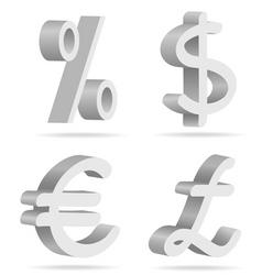symbols of money vector image