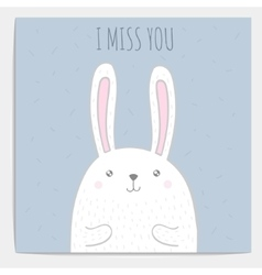 Hand drawn bunny with text vector