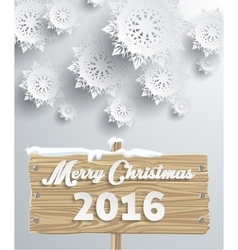 Snowflakes background merry christmas vector