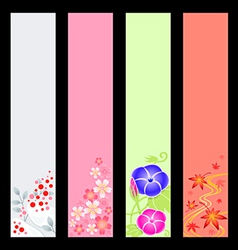 Japanese season banners vector