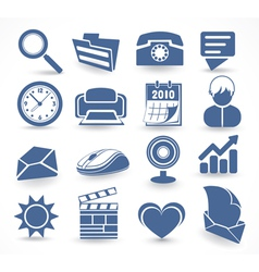 technology set of icons vector image