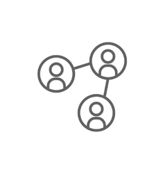 Social network line icon vector