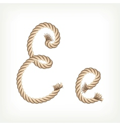 Rope alphabet Letter E vector image