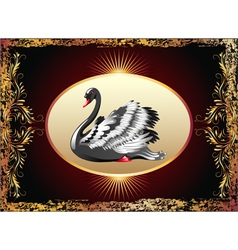 Elegant black swan vector