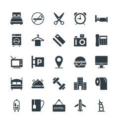 Hotel and Restaurant Cool Icons 1 vector image