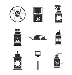 Exterminator service icons set vector
