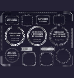 a set of various silver frames vector image