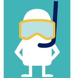 Animated personality diver vector