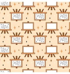 Art tools and materials seamless pattern vector image vector image