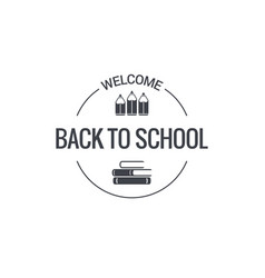 back to school logo design background vector image