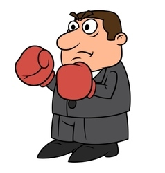 Businessman with boxing gloves vector image