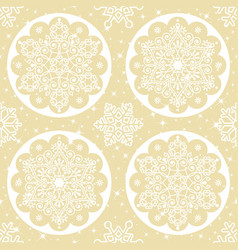 christmas folk pattern vector image vector image