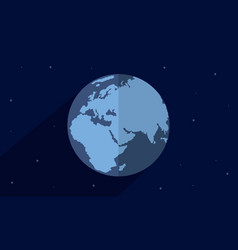 Collection of earth day style with world vector